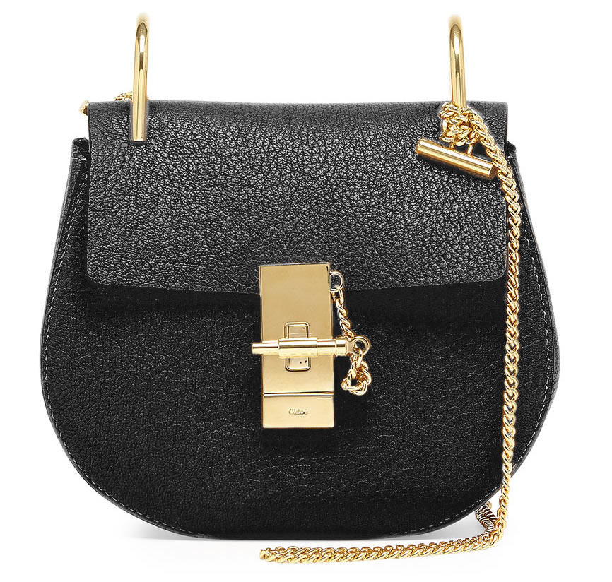 Chloe Drew Mini Chain Shoulder Bag in Black