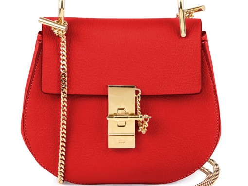 Chloe Drew Mini Chain Shoulder Bag in Red