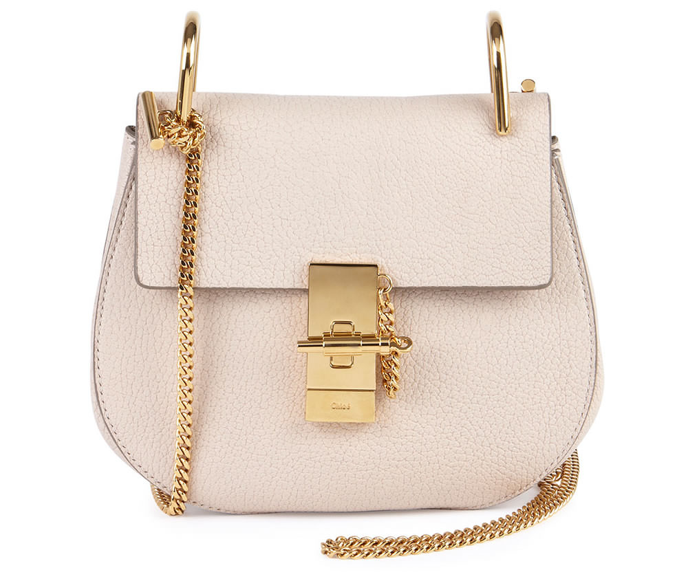 Chloe Drew Small Chain Shoulder Bag Off White