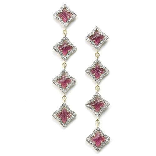 David-Yurman-Pink-Tourmaline-Earrings