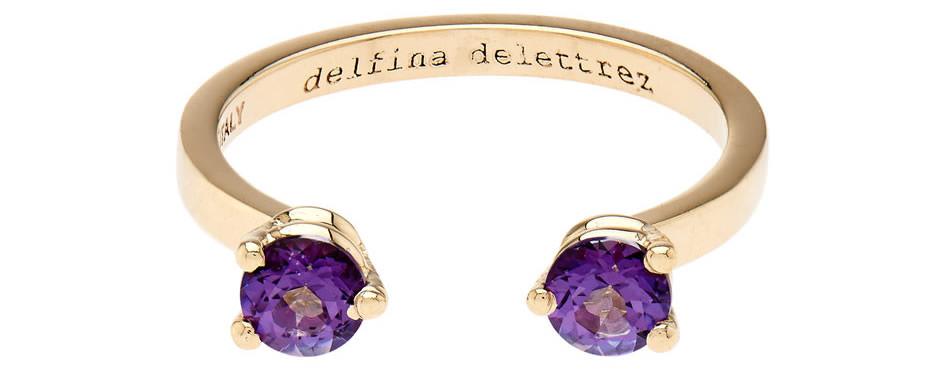 Delfina Delettrez Topaz yellow-gold ring