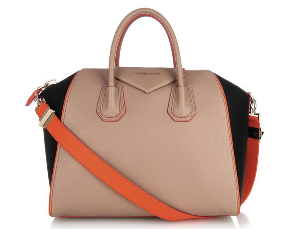 Givenchy Antigona Tan Orange Black