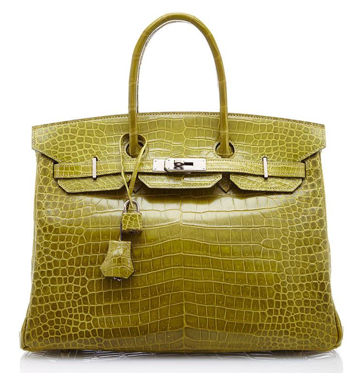 Hermes-Crocodile-Birkin-35cm-Vert-Anis
