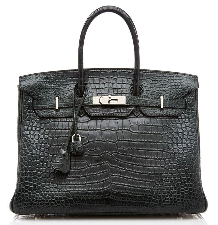 Hermes-Crocodile-Birkin-Vert-Fonce-35cm