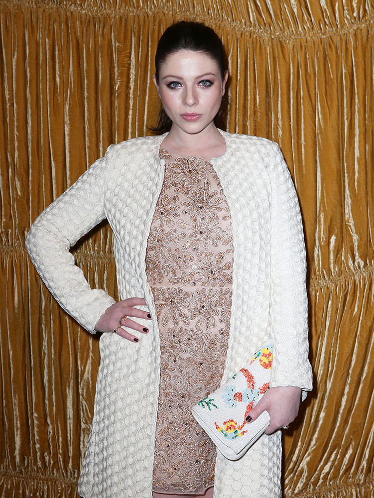 Michelle-Trachtenberg-Alice-and-Olivia-Flap-Clutch
