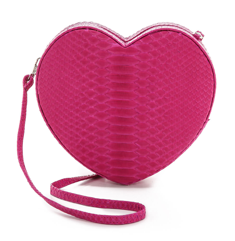 dfb782137447ec ONE by Gelareh Mizrahi I Don't Want To Go To Bed Python Heart Bag $315 via  ShopBop