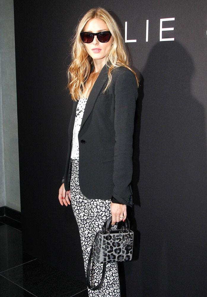 Olivia-Palermo-Christian-Dior-Lady-Dior-Leopard-Mini-Bag