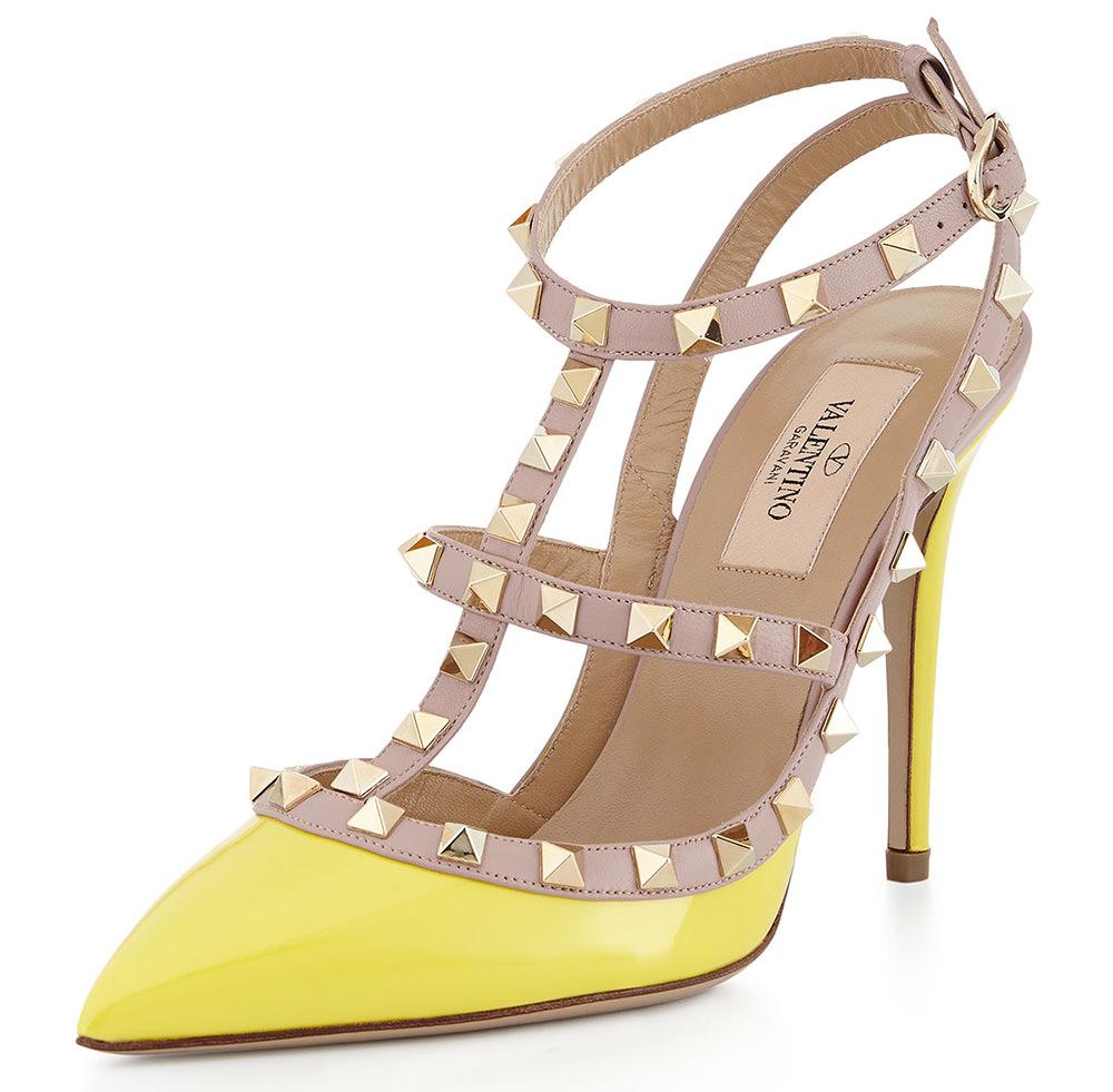 Valentino  Rockstud Patent Sandal,