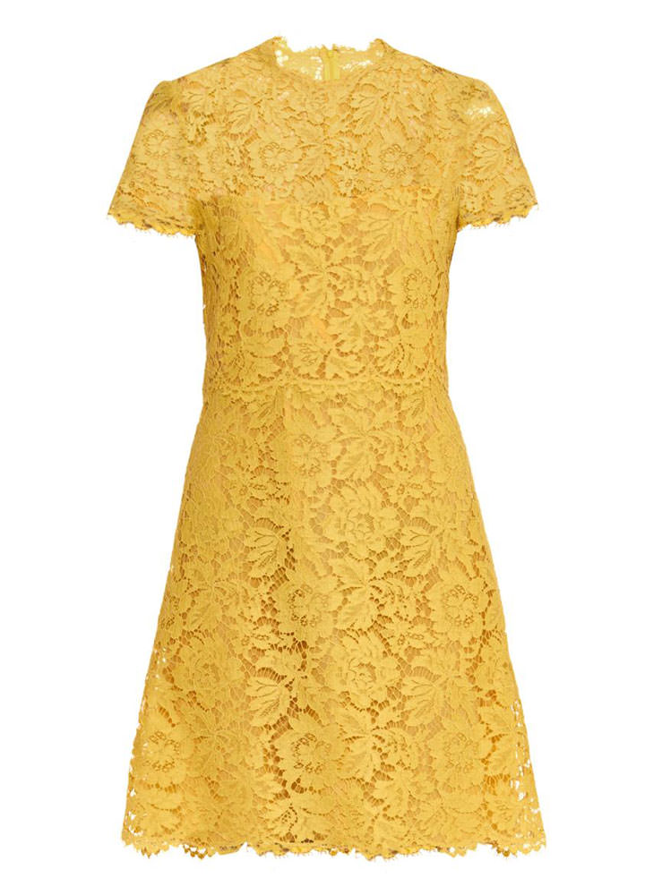 Valentino-Short-Sleeved-Lace-Dress