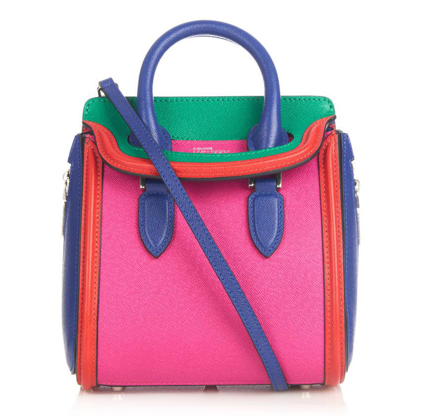 Alexander-McQueen-Multicolor-Mini-Heroine-Bag