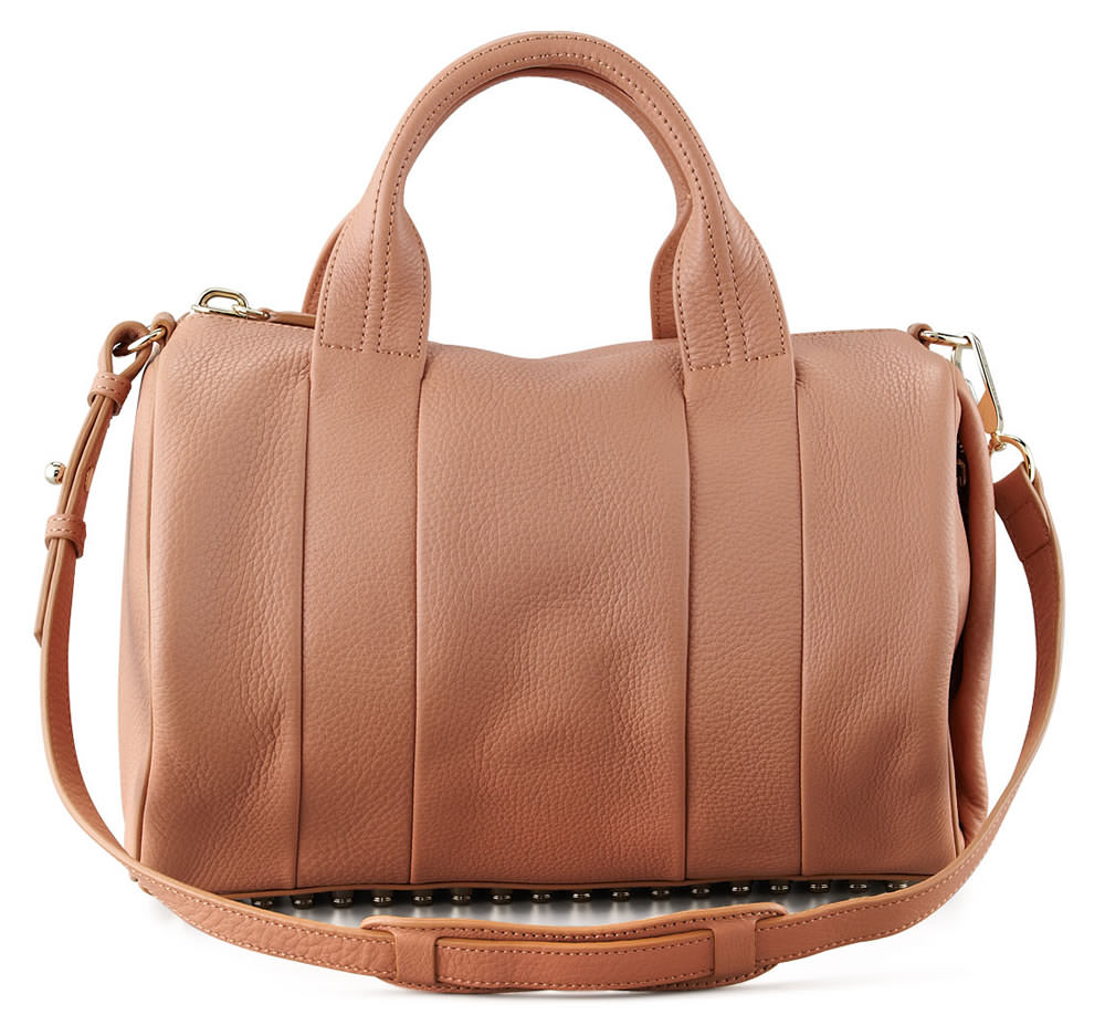 Alexander Wang Rocco Stud-Bottom Satchel Duffel Bag