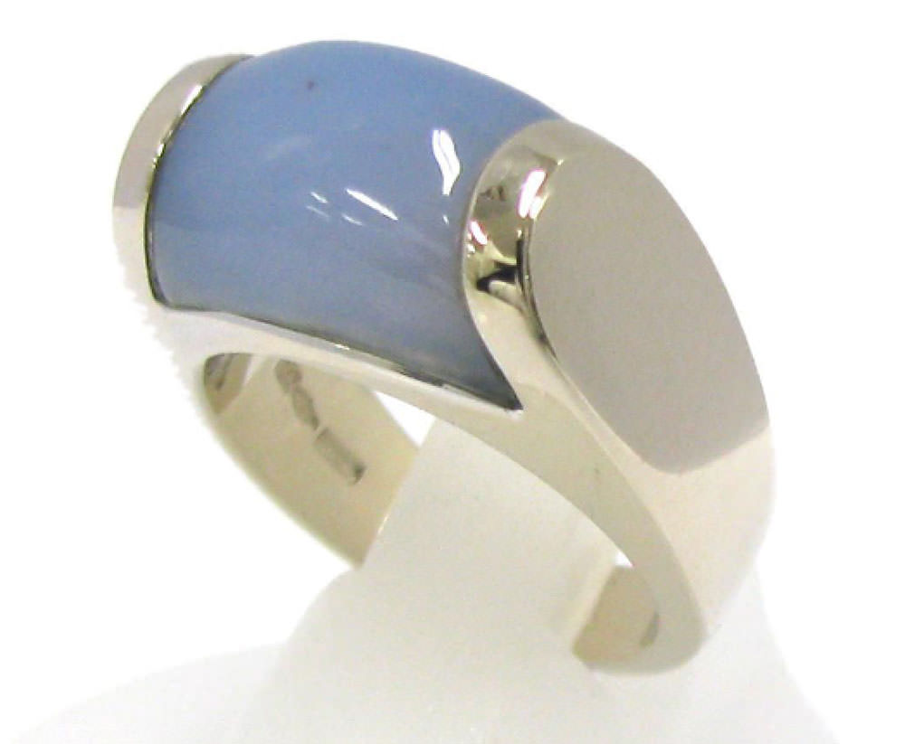 Bulgari-White-Gold-Chalcedony-Tronchetto-Ring