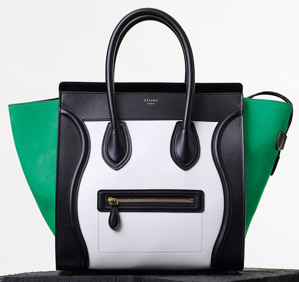 Celine-Tricolor-Mini-Luggage-Tote