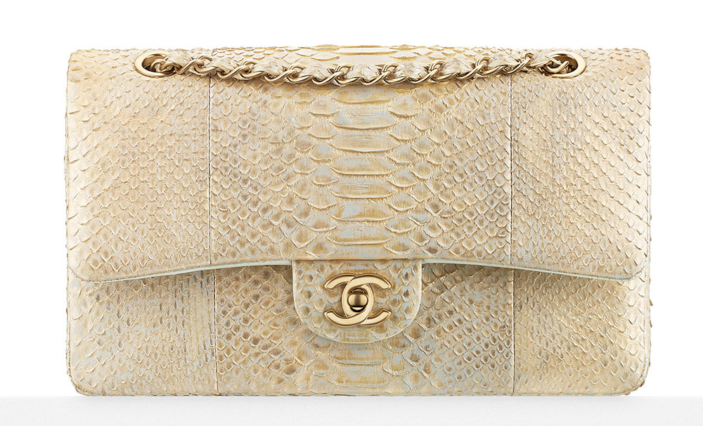 Chanel-Metallic-Python-Classic-Flap-Bag