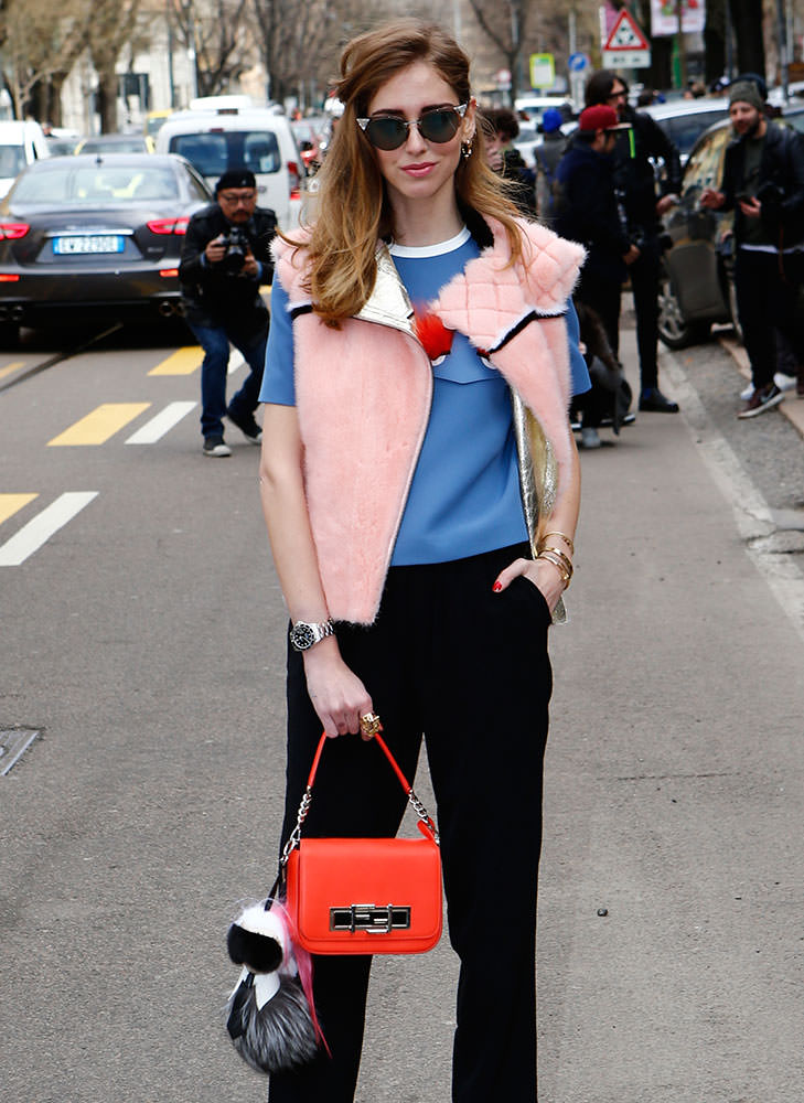 Chiara-Ferragni-Fendi-3Baguette-and-Karlito-Bag-Bug