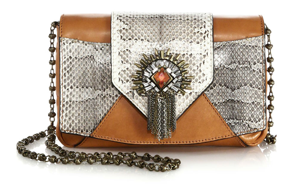 Dannijo-Rocha-Embellished-Snake-and-Leather-Bag
