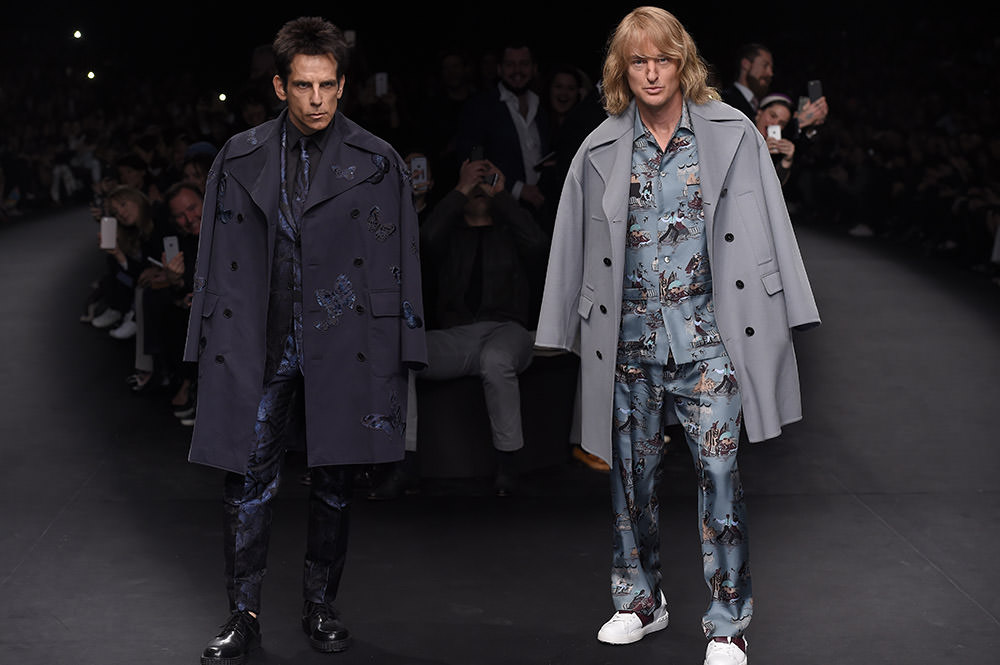Ben Stiller and Owen Wilson on the runway at the Valentino Fall 2015 fashion show in Paris