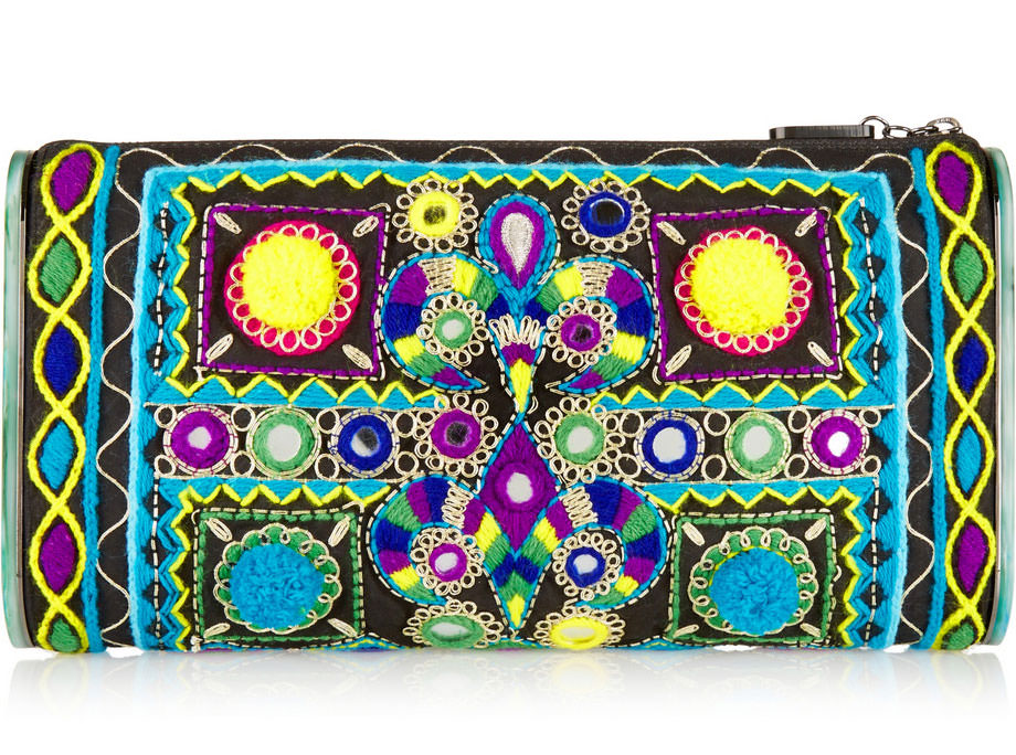 Edie-Parker-Lara-Embroidered-Cotton-and-Acrylic-Clutch