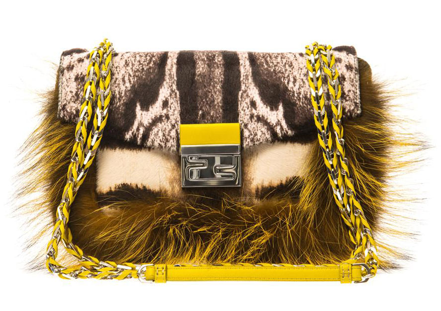 Fendi-Fur-and-Calf-Hair-Be-Baguette-Bag