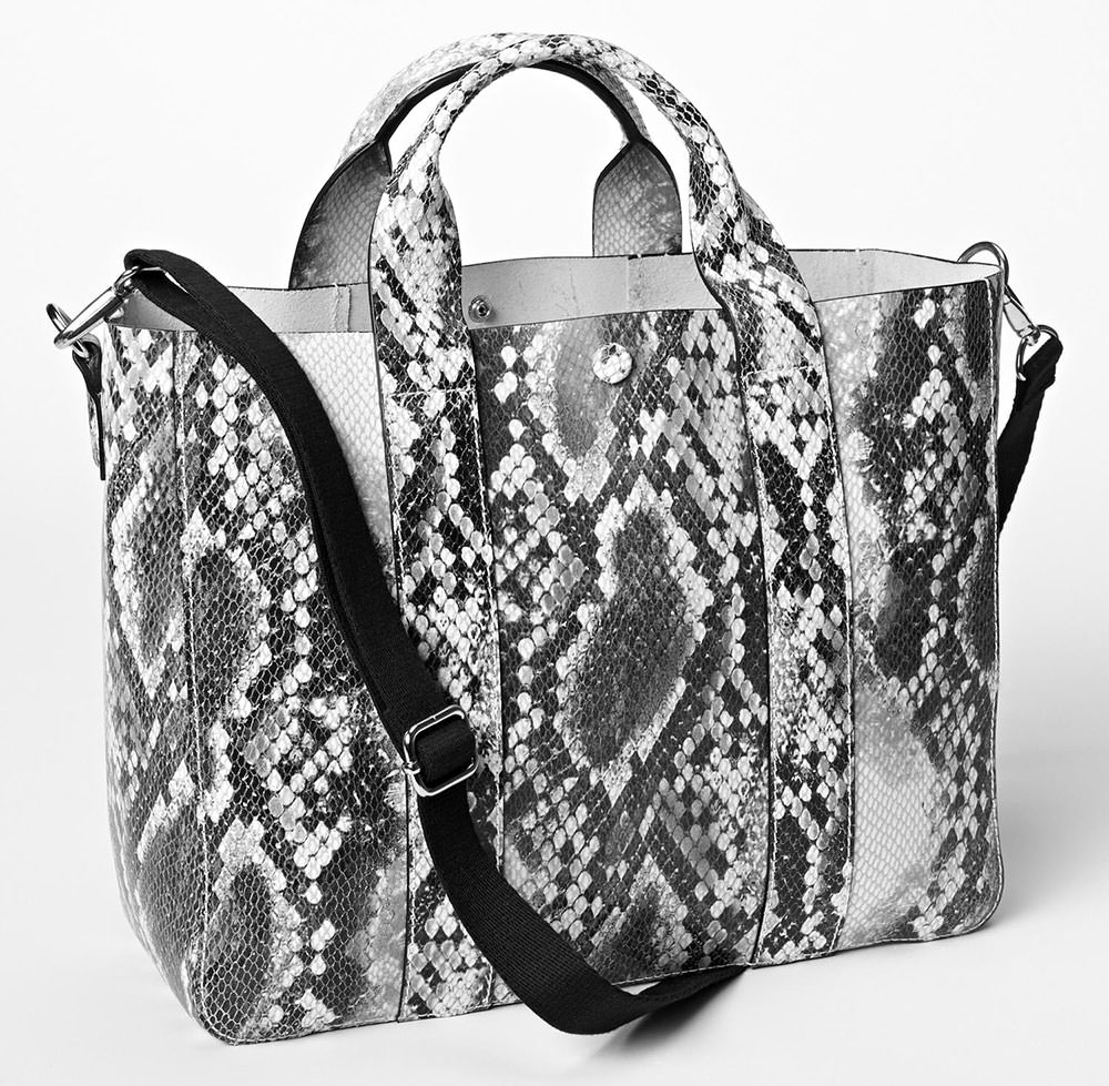 GAP-Snake-Embossed-Leather-Tote