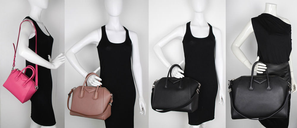 Givenchy-Antigona-Size-Comparison-Mini-Small-Medium-Large-Mannequin