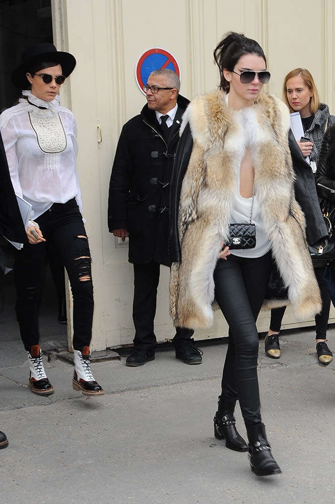 Chanel  Outside celebrity Arrivals - Paris Fashion Week _01