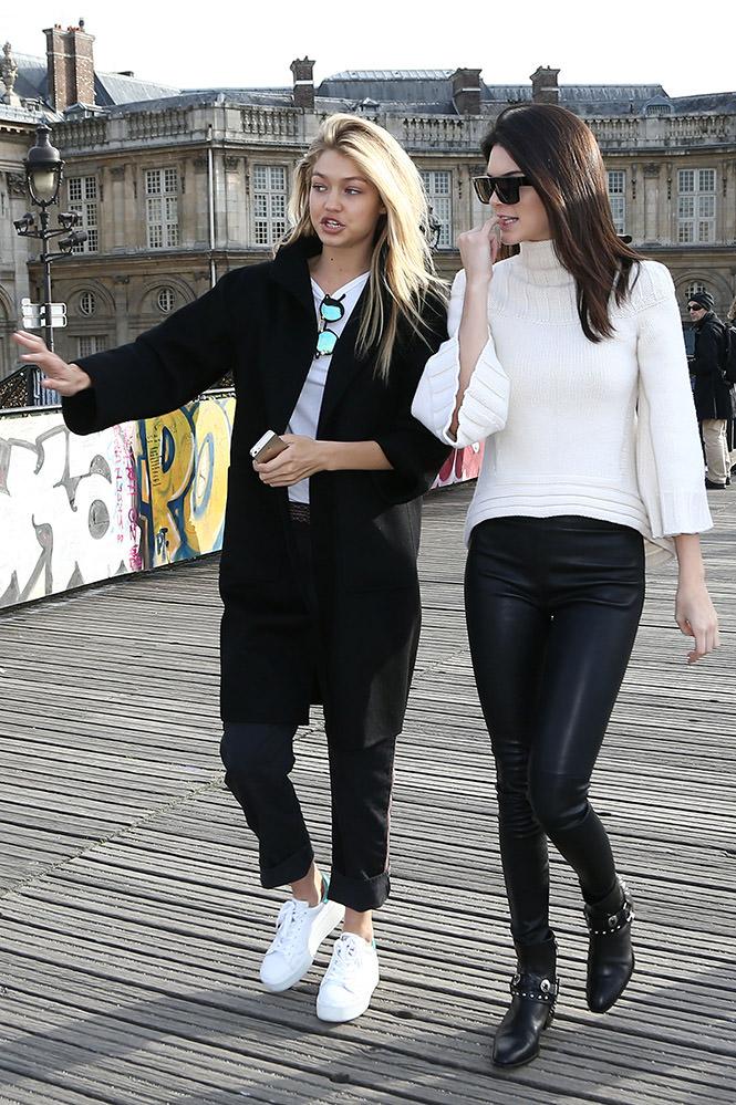 Kendall Jenner and Gigi Hadid sighting in Paris