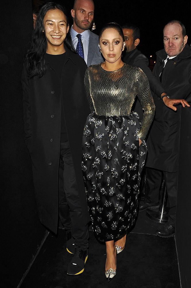 Lady Gaga leaving the Balenciaga's fashion show in Paris