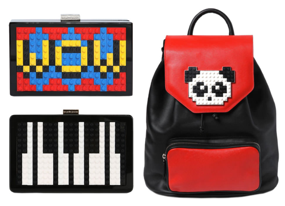 Grace Wow Lego Clutch, $676 via LUISAVIAROMA Andy Piano Lego Clutch, $825 via LUISAVIAROMA Freddy Panda Lego Backpack, $1,048 via LUISAVIAROMA