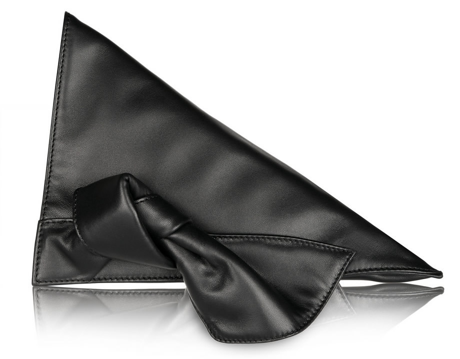 Loewe Wedge Leather Clutch