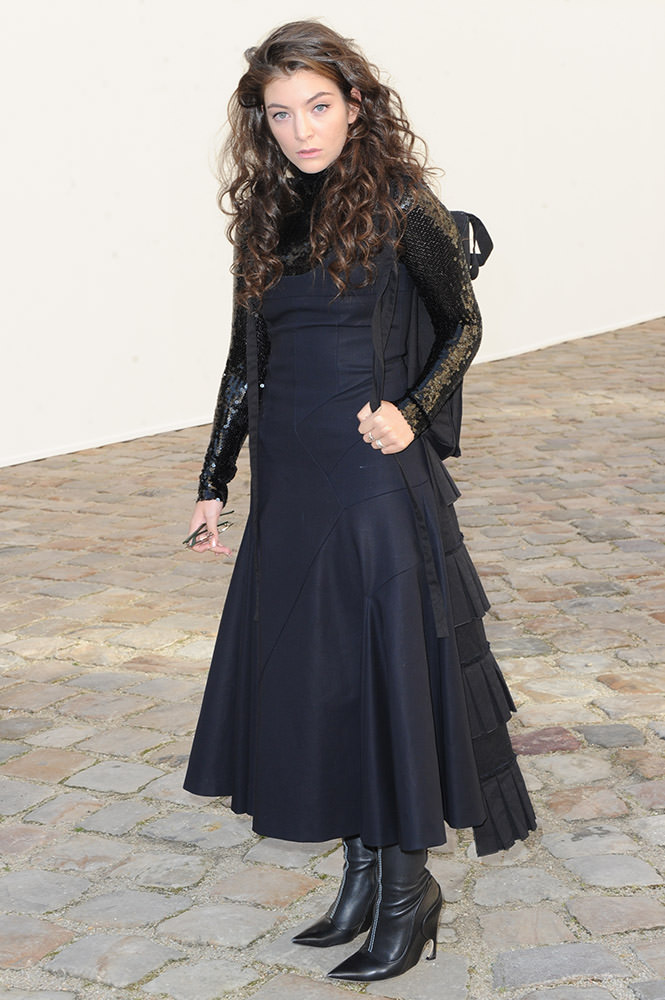Celebrities at the Dior Fall-Winter 15/16 collection in Paris
