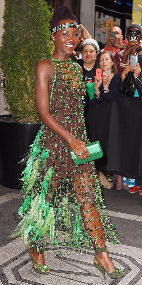 Lupita Nyong'o takes fashion risk in green Prada dress, NYC