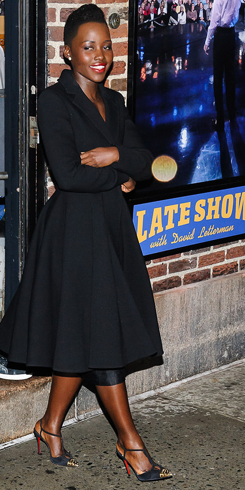 "Lupita Nyong'o departs ""The Late Show with David Letterman"""