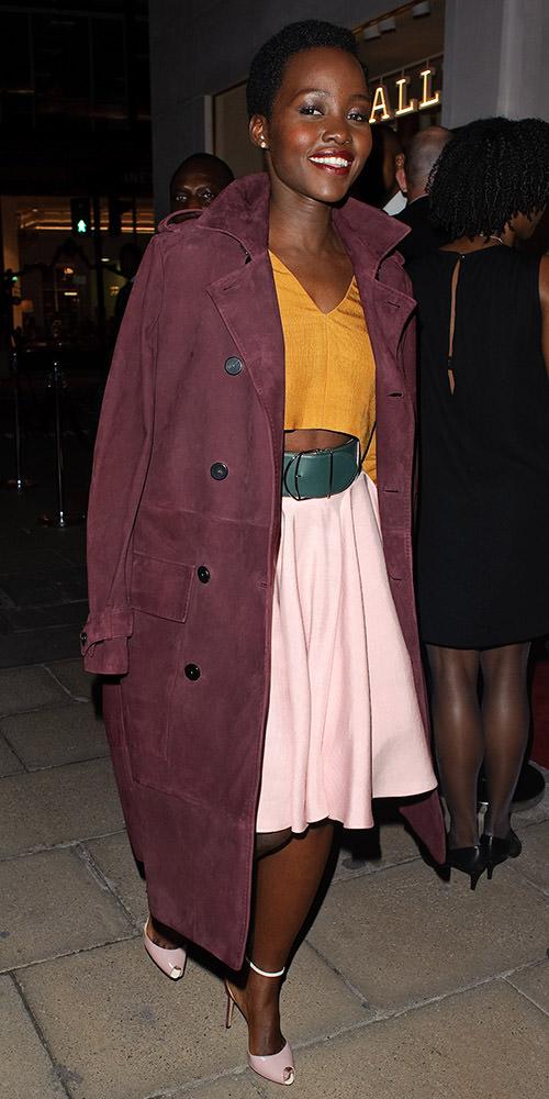 Lupita Nyong'o seen at Bally store opening in London