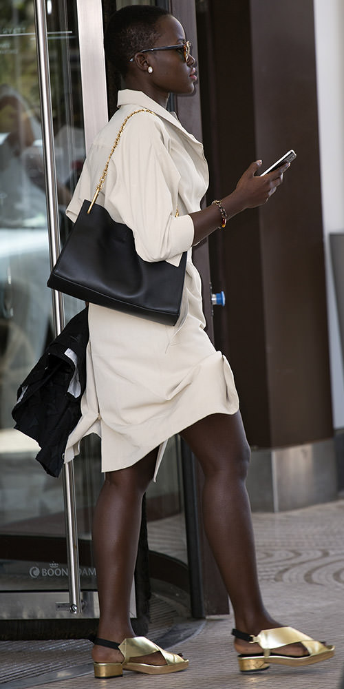 Lupita Nyong'o arriving at Hotel Martinez during Cannes Film Festival 2014