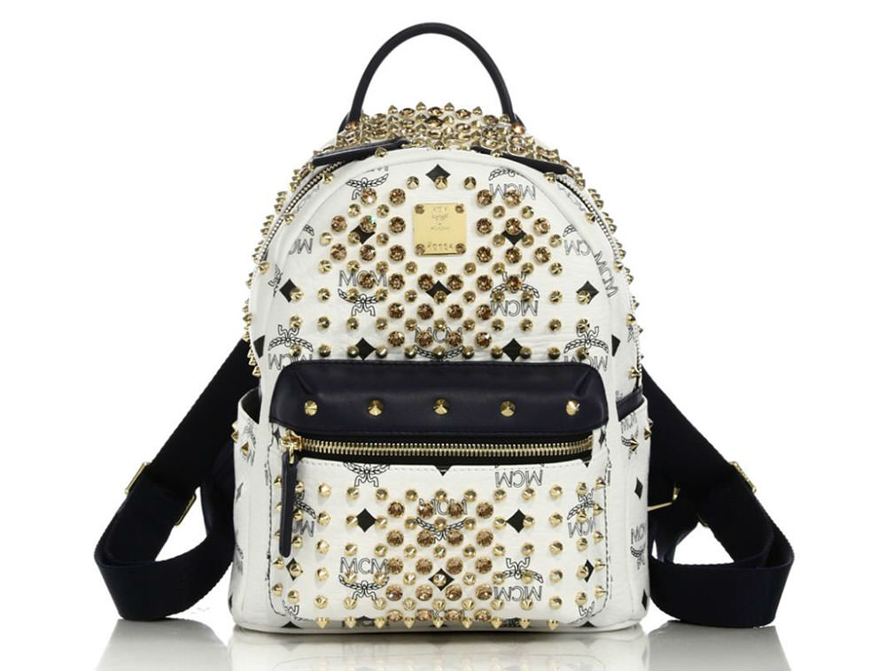 MCM-Diamond-Visetos-Embellished-Backpack