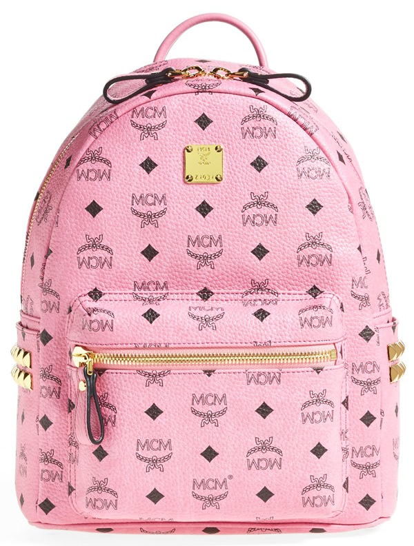 MCM Small Visetos Coated Canvas Backpack