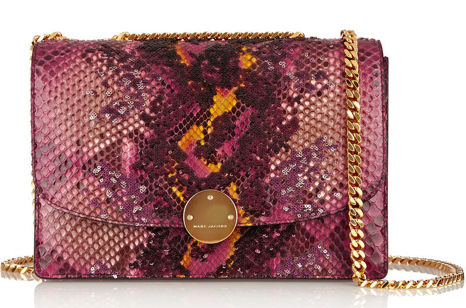 Marc-Jacobs-Python-and-Sequin-Trouble-Bag