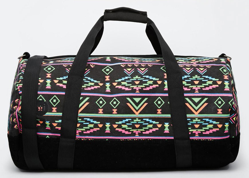 Mi-Pac-Geo-Tribal-Neon-Barrel-Bag