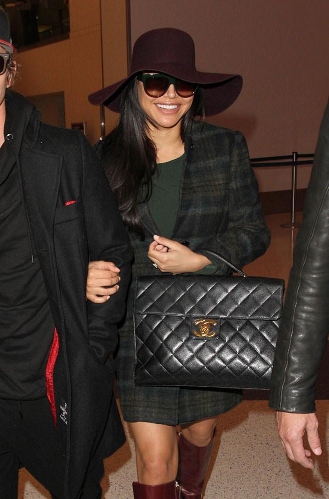Naya-Rivera-Chanel-Vintage-Briefcase