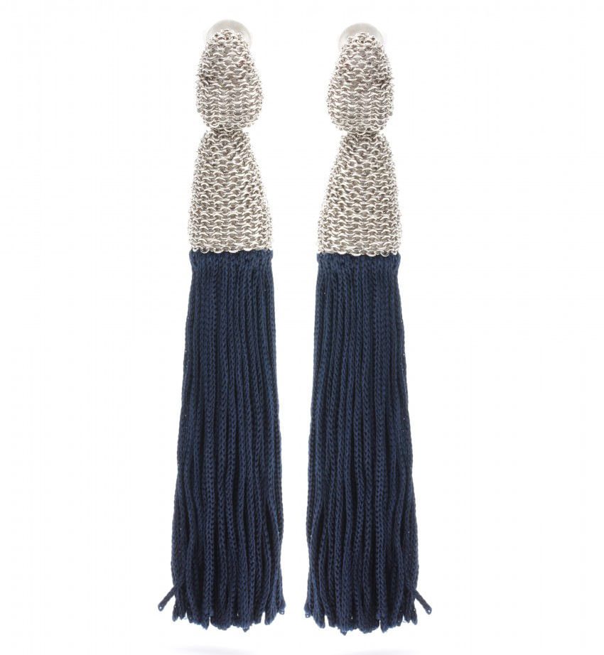 Oscar-de-la-Renta-Tassel-Clip-On-Earrings