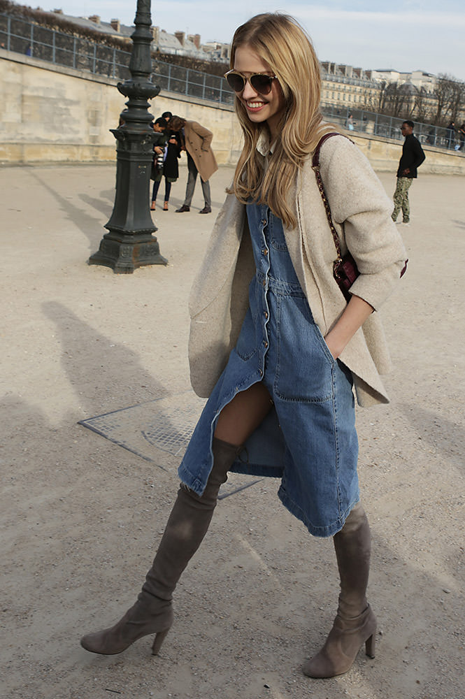 Sasha Luss leaving Elie Saab show in Paris during Fashion Week AW 2015
