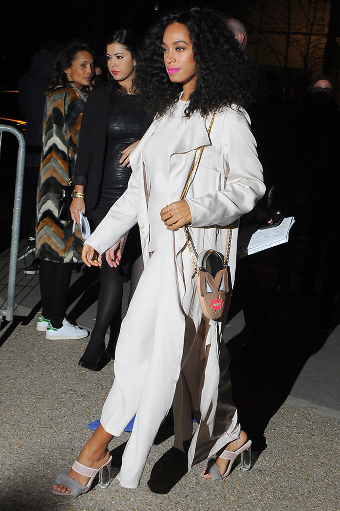 Celebrity Sightings Paris Fashion Week attend the H&M show