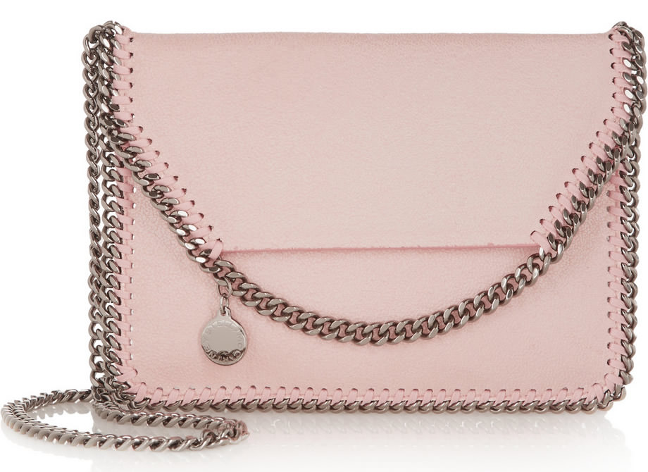 Stella McCartney Falabella Mini Faux Brushed Leather Shoulder Bag