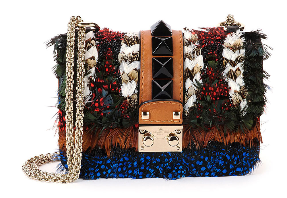 Valentino-Feather-Mini-Lock-Shoulder-Bag