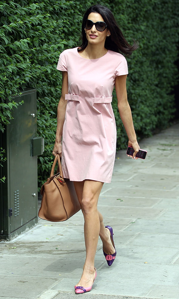 Amal Alamuddin seen out and about in West London