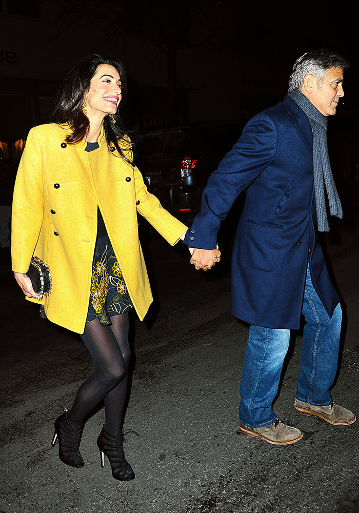 George Clooney and Amal Clooney spotted out taking a stroll after a romantic dinner date in NYC.