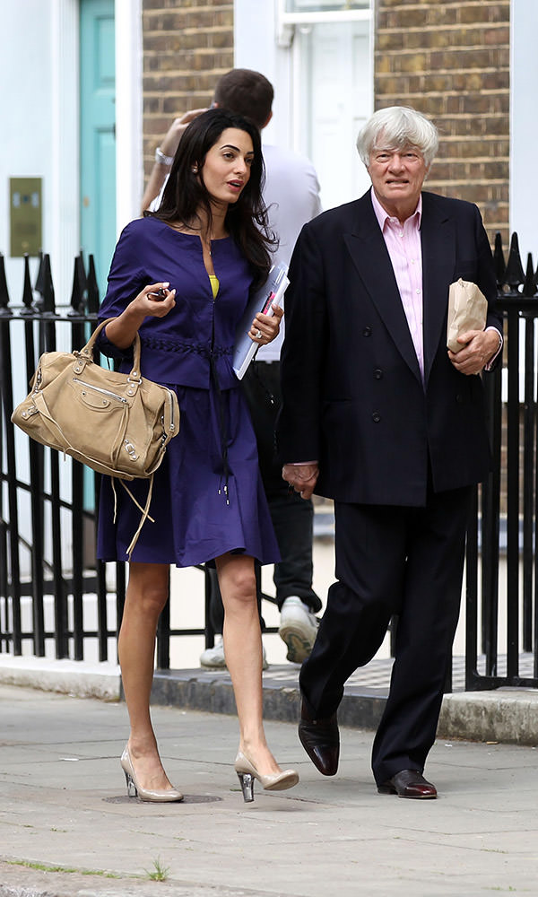 INF - Amal Alamuddin leaves work and gets some Starbucks