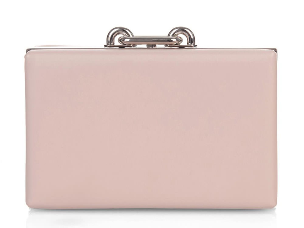 Balenciaga-Maillon-Leather-Box-Clutch