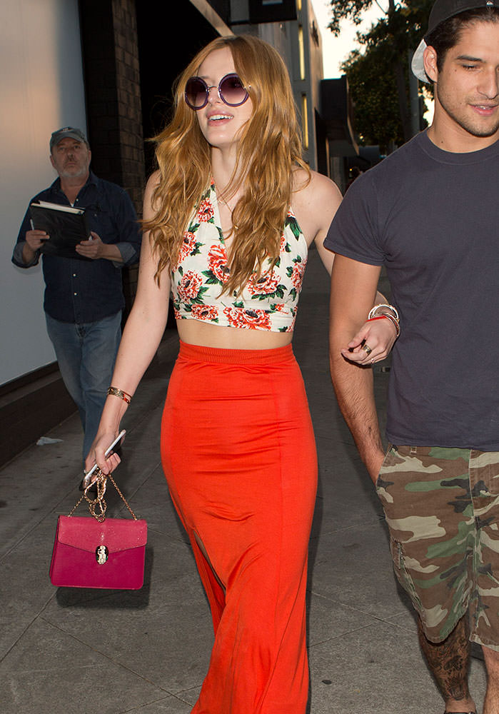 Bella-Thorne-Bulgari-Serpenti-Shoulder-Bag